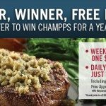 Champps is Giving Away Free Dinner For A Year + $100 Every Week