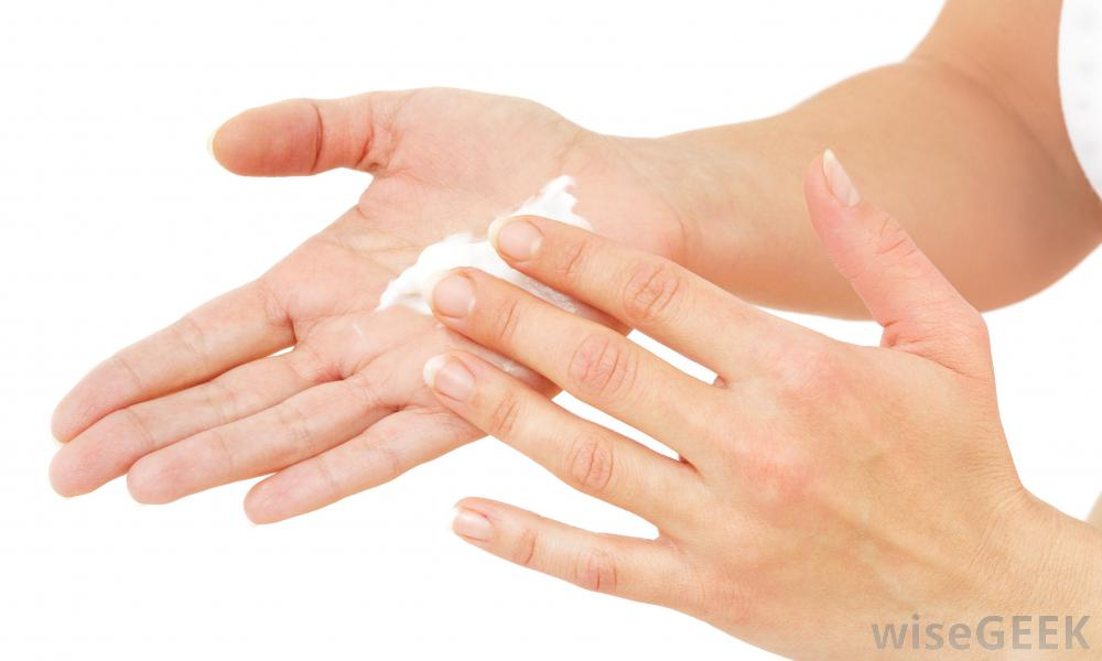 moisturize hands with olive oil