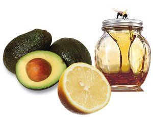 Avocado, Honey and Lemon Facial Mask