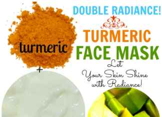 Turmeric Yogurt Avocado Face Mask for Glowing Skin