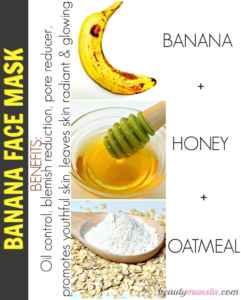 Banana oatmeal honey mask for oil control and reduce blemishes