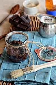 DIY easy face mask Anti-Aging Chocolate Mask