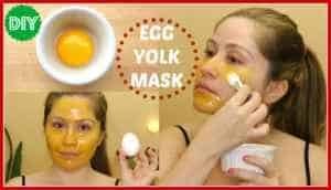 Egg yolk face mask for dry skin