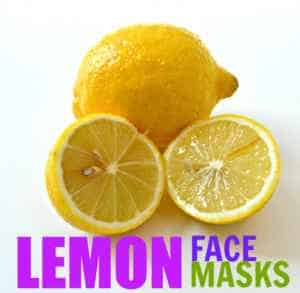 Lemon face mask for acne, blemishes, and oily skin