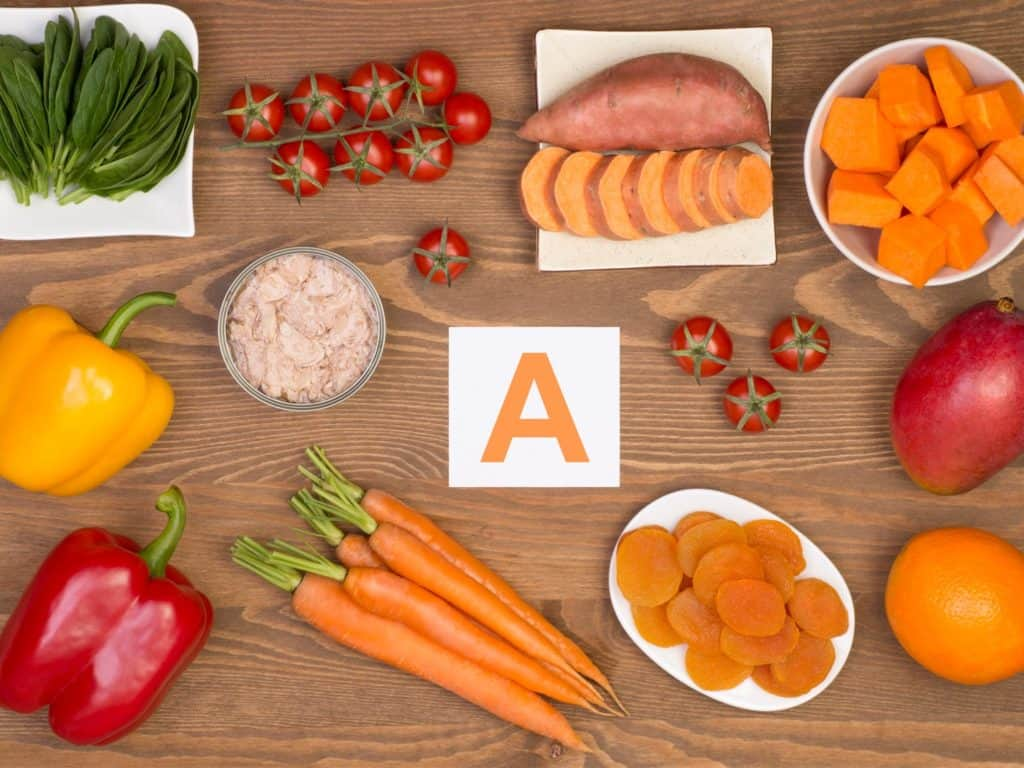 Vitamin A fights acne and oily skin