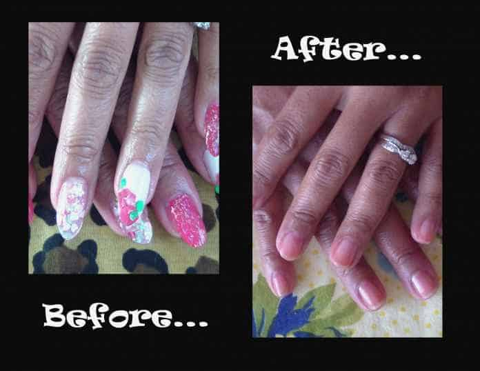 Take Off Acrylic Nails at Home Pain Free With Acetone and Oil