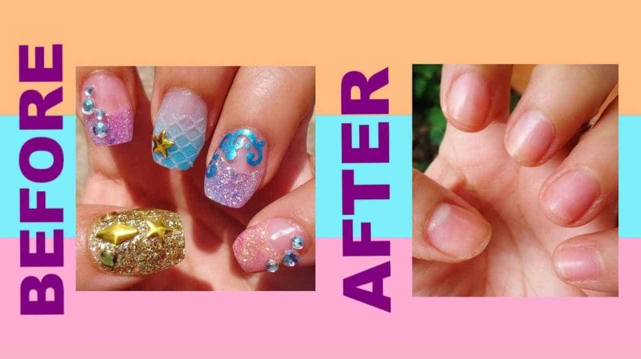 How to Remove Acrylic Nail Without Acetone at home