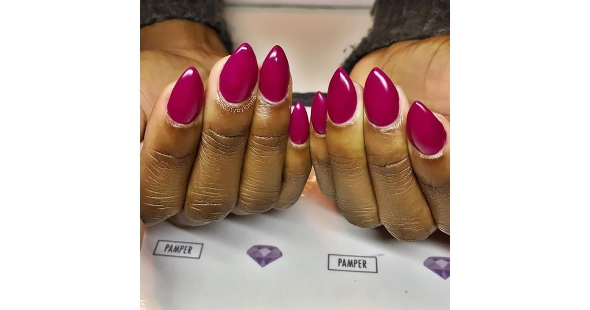 Mountain peak shape nail designs