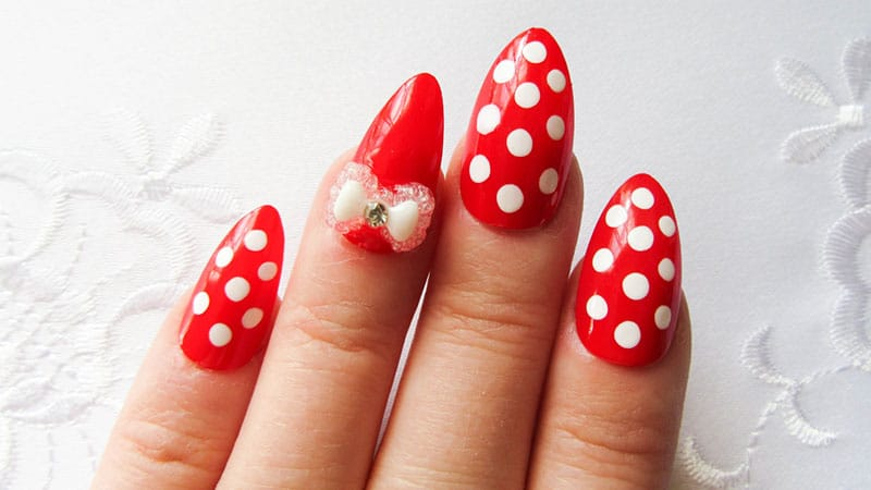 Cute almond shape nails