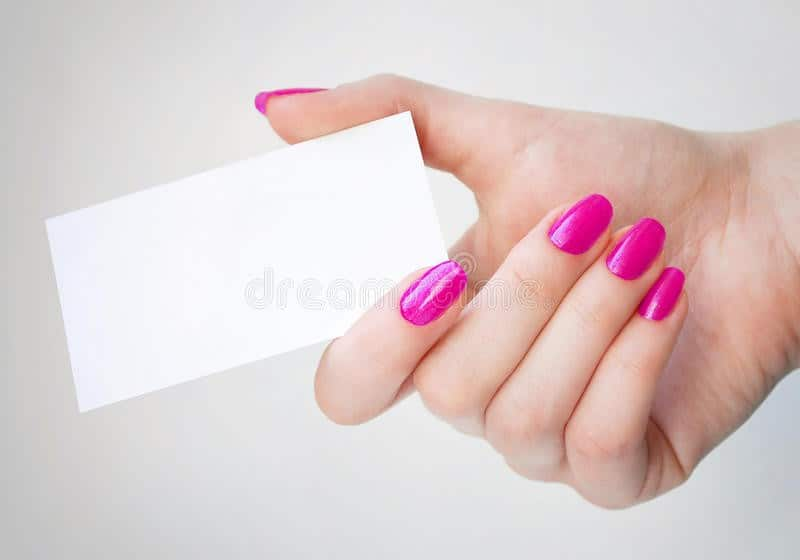 How to remove acrylic nail without acetone at home how to remove acrylic nails without acetone at home use laminated business card reheart Images