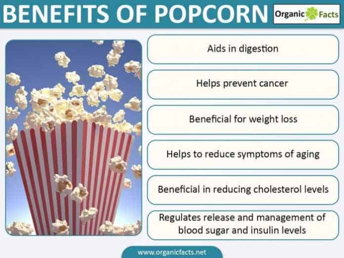Remarkable health benefits of popcorn