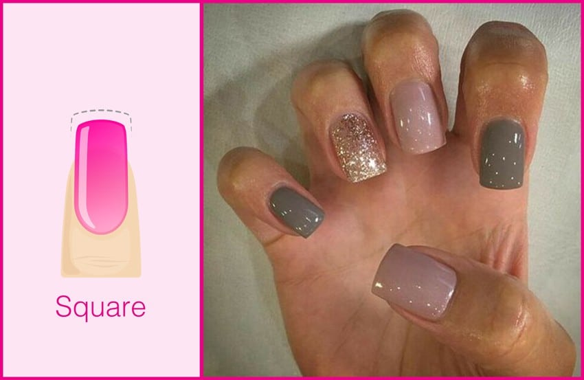 Square shaped nails